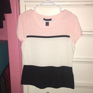high quality pink/ white/ black shirt